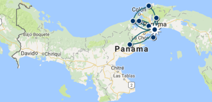 Carte Circuit Incontournable Panama