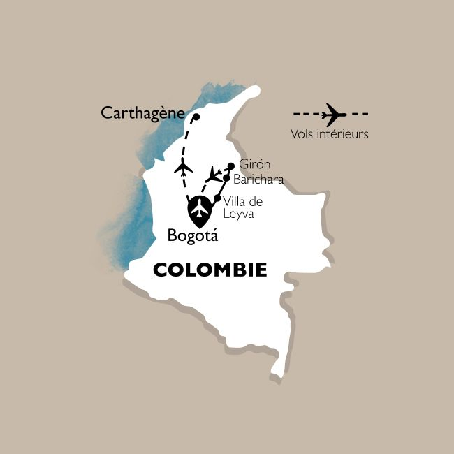 Carte Circuit Colombie : Terre de l'Eldorado - 16 personnes maximum