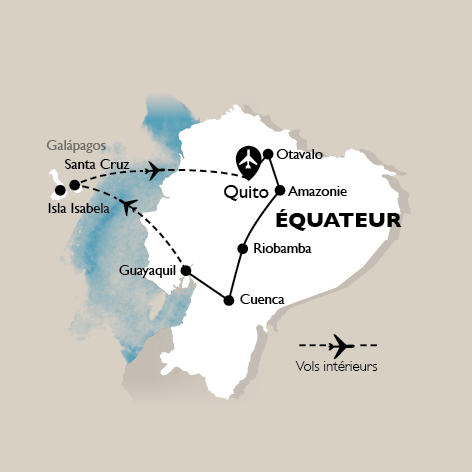 Carte Circuit Equateur: incontournable Equateur - 15 personnes maximum
