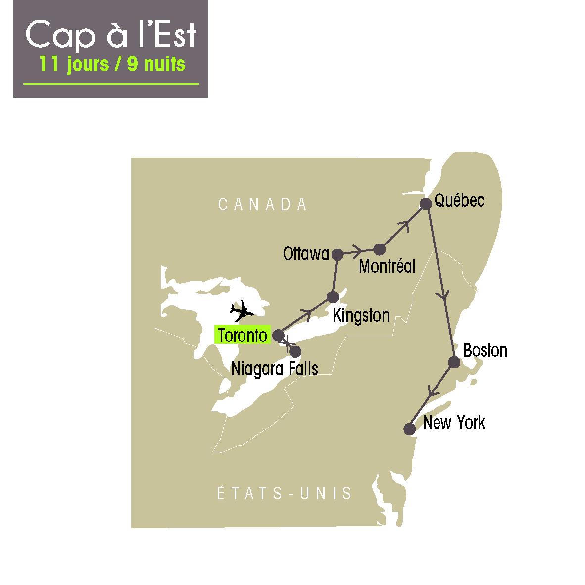 Carte Canada Boston.Amerigo Createur De Voyages